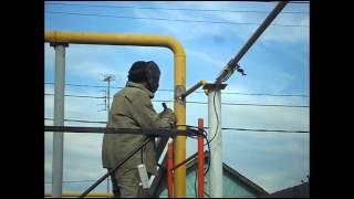 Врезка в газопровод под давлением(Осуществление врезки в газопровод под давлением (не перекрывая газ). Врезку осуществлял Челябинский ГорГаз., 2015-05-13T09:27:51.000Z)