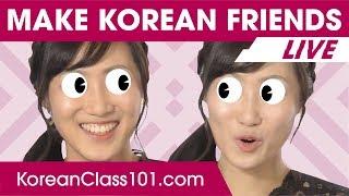 How to Make Korean Friends ???? | Learn Korean LIVE @1pm KST on Thu.