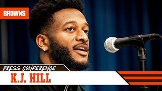 K.J. Hill talks working with former Browns WR Brian Hartline | 2020 NFL Combine