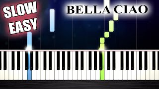 Bella Ciao - SLOW EASY Piano Tutorial by PlutaX