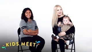 12 Year Old Girl Meets a Teen Mom | Kids Meet | HiHo Kids