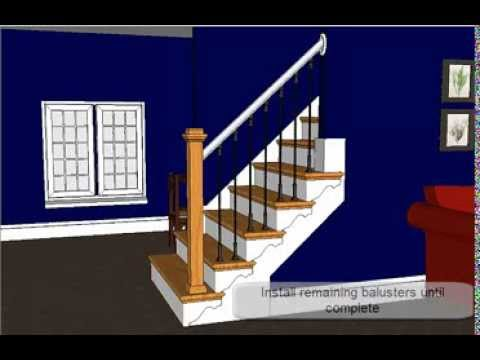 Open Sided Staircase Remodel With Adjustable Iron