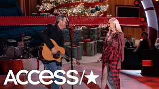 Gwen Stefani & Blake Shelton Adorably Perform Together On Gwen's Holiday Special | Access