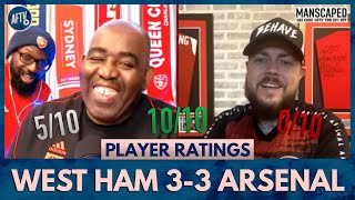 West Ham 3-3 Arsenal | Odegaard, Chambers or Laca? (DT Player Ratings)