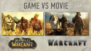 Warcraft Movie vs Game (World of wacraft machinima/cinematic)