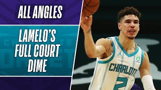 All-Angles: LaMelo Ball FULL COURT To Hayward! 🎯