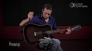 Vintage 12 String Acoustic Guitar by Luna Guitars