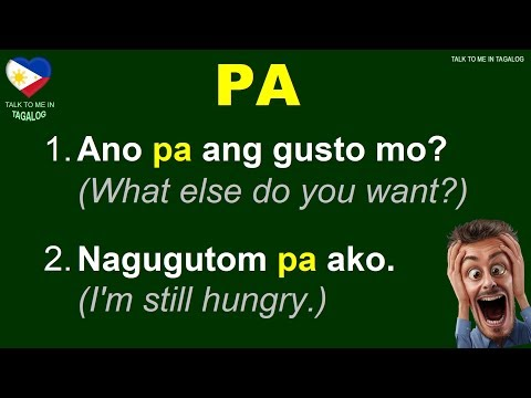 Filipino Phrases And Sentences With PA