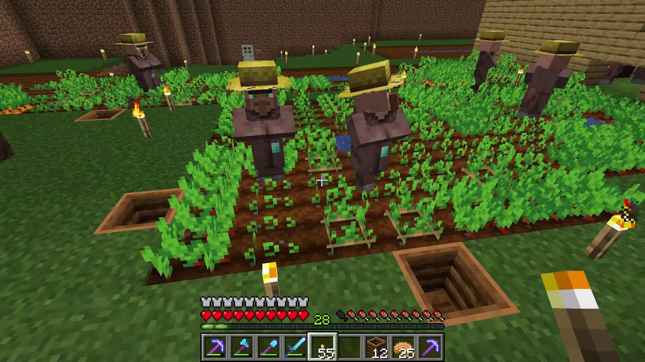 How To Make Villagers Plant Crops For You Minecraft Youtube