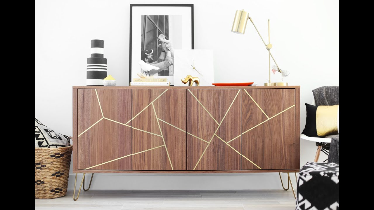 midcentury modern ikea hack sideboard youtube. Black Bedroom Furniture Sets. Home Design Ideas