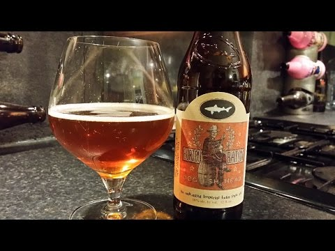 Dogfish Head Burton Baton Oak Aged Imperial IPA | American Craft Beer Review