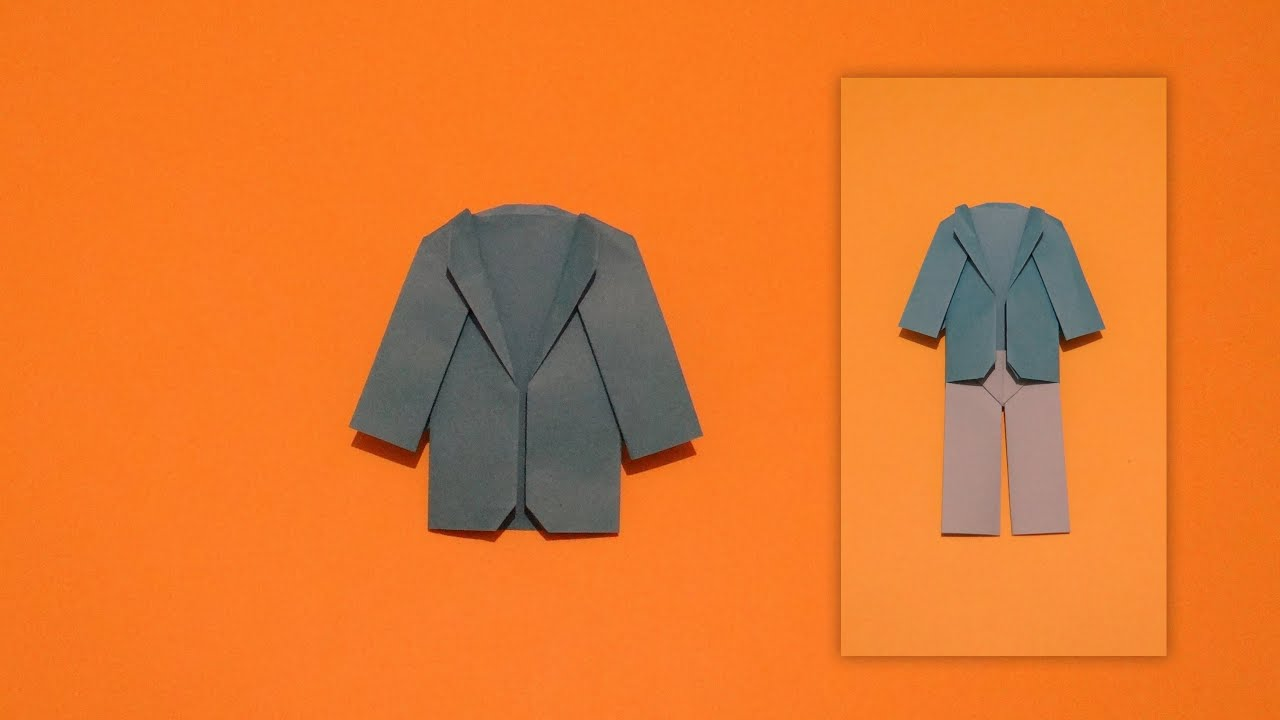 How to make an origami coat youtube how to make an origami coat jeuxipadfo Images