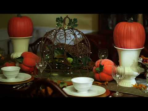 Plow & Hearth Illuminated Metal Pumpkin Carriage with Timer on QVC