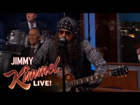 John Mayer Disguised as Hank the Hawk Knutley on Jimmy Kimmel Live