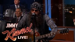 Download lagu John Mayer Disguised as Hank the Hawk Knutley on Jimmy Kimmel Live Mp3