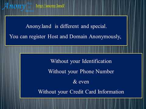 Register Host & Domain Anonymously