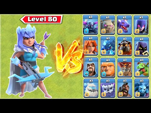Archer Queen vs All Troops – Clash of Clans