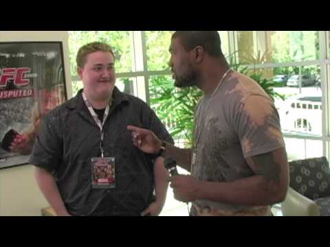 Rampage Jackson gives Interviewer hard time