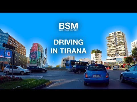Driving in Tirana - Capital of Albania 🇦🇱 [4K Ultra HD]