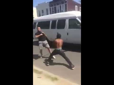 New Jersey Street fight knockout