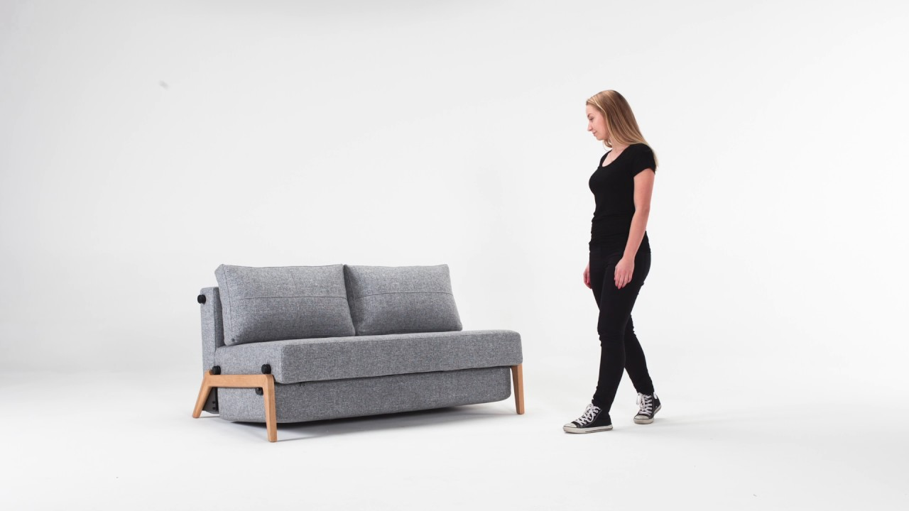 Cubed 140 Wood sofa bed Innovation YouTube