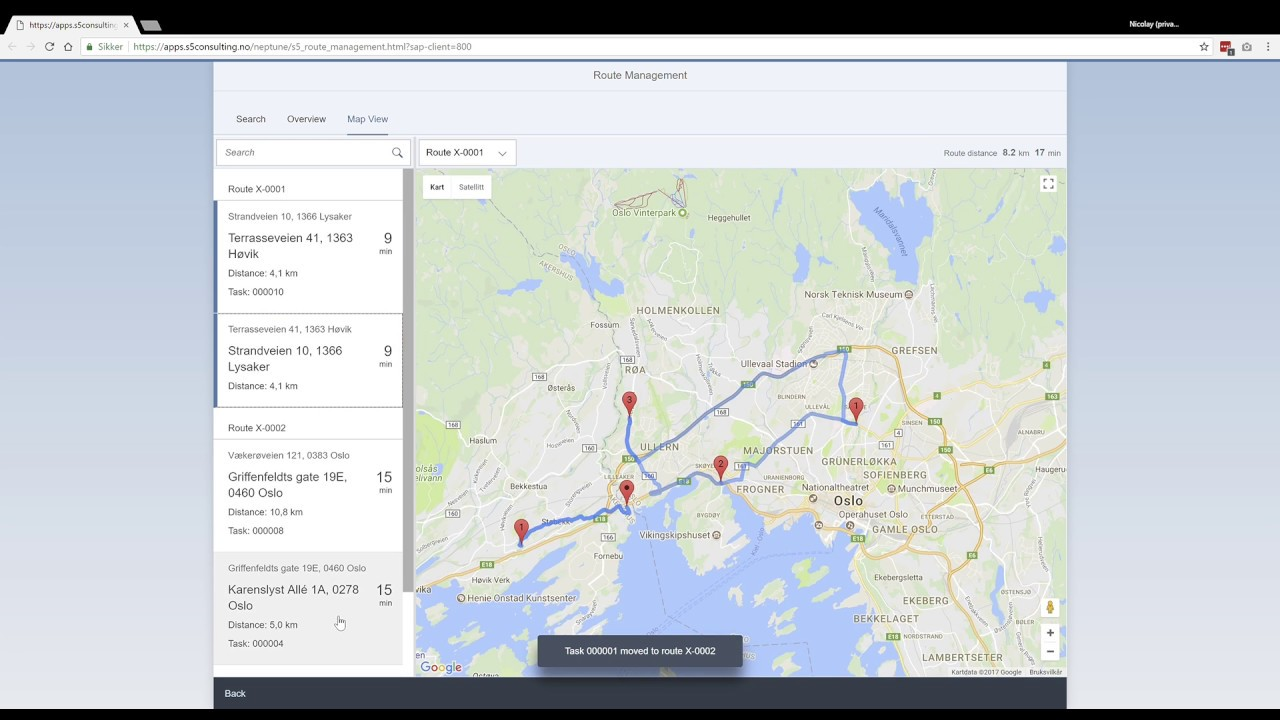 Sap Fiori Drag And Drop Route Planner With Google Maps Directions