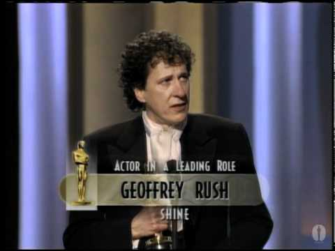 Geoffrey Rush winning Best Actor