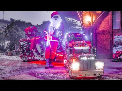 Santa Claus And TruckModel Peterbilt 359 RC 1:4