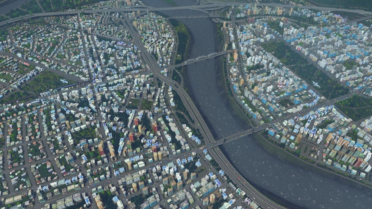 Cities skylines longplay day01 youtube for Us city skylines photos