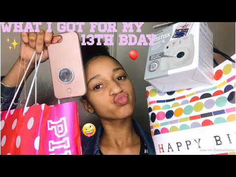 ' WHAT I GOT FOR MY 13TH BIRTHDAY 🛍✨