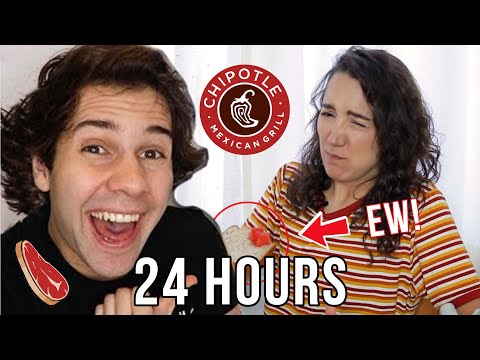 I Ate Like DAVID DOBRIK For 24 HOURS! (~soggy Watermelon Bread~ Included)