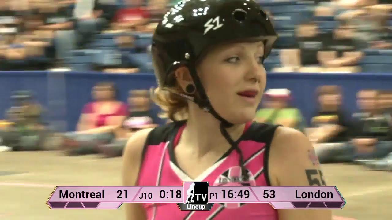 Roller skating montreal - London Rollergirls V Montr Al Roller Derby 2013 Wftda D1 Playoffs In Fort Wayne
