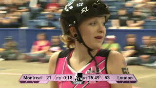 London Rollergirls v Montréal Roller Derby: 2013 WFTDA D1 Playoffs in Fort Wayne