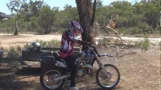 Wife first time riding a dirt bike - YZ85 Bigwheel