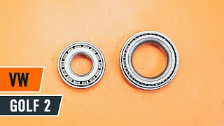 Watch the video guide on VW GOLF II (19E, 1G1) Axle shaft bearing replacement