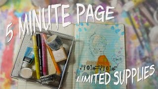 Playing the Limited Supply Journal Game ~ A 5 Minute Art Journal Page by Jennibellie