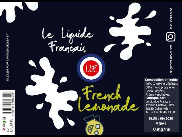 Première revue de liquide  avec Le liquide Français !!!