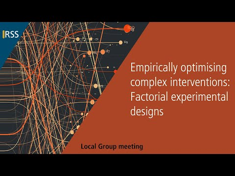 Empirically optimising complex interventions: Factorial experimental designs