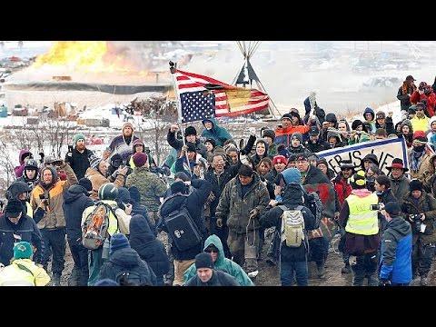 Confrontos e detenções em protesto contra oleoduto do Dakota