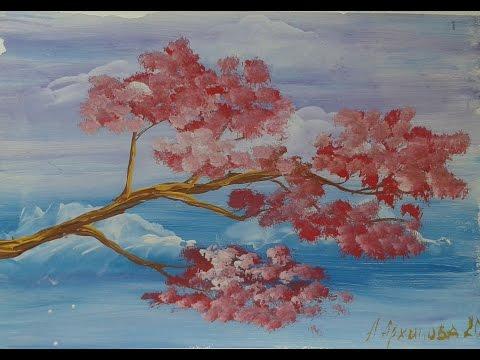 Сказка+ картина Цветущее дерево! Правополушарное рисование с детьми.