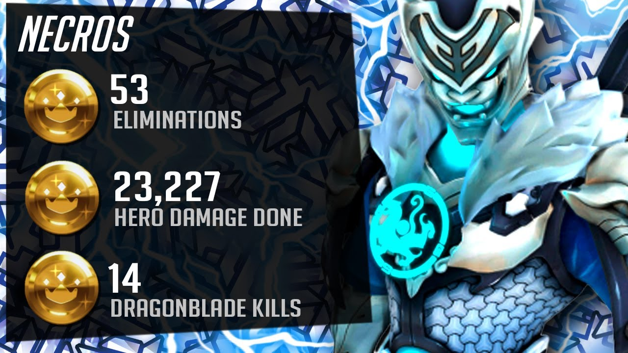 Necros Dominating as Genji - 53 elims! [ Overwatch Season 26 Top 500 ]