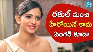 Rakul preet singh croons choosa choosa song || #dhruva || talking movies with idream