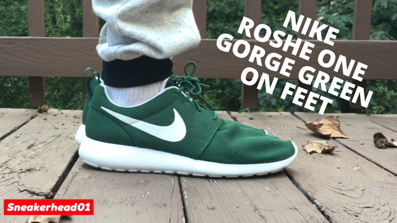 new style 0a76d 639e0 Nike Roshe One Gorge Green On Feet