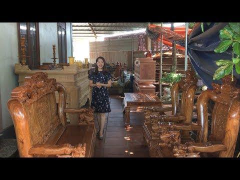 Những bộ bàn ghế gỗ hương đá, hương vân đẹp xuất sắc, hiếm có - Cùng Vân Nguyễn gặp gỡ thợ mộc giỏi