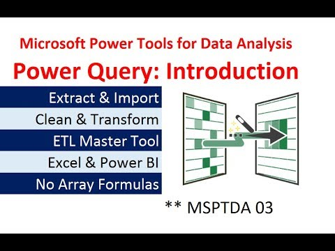 MSPTDA 03: Power Query Introduction: Importing & Transformation Data in  Excel & Power BI Desktop