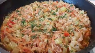 ОВОЩНОЕ рагу Рецепт овощного РАГУ с капустой и кабачками