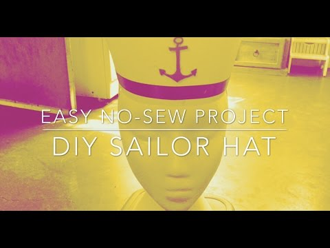 DIY Sailor Hat - Easy no-sew Project