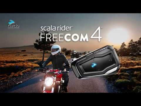 Scala Rider Freecom 4 Full 4 Way Bike To Bike Intercom Communication