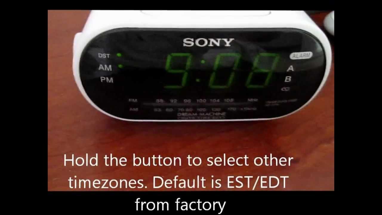 How To Set Sony Dream Machine Alarm Clock Unique Alarm Clock