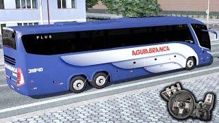 Euro Truck Simulator 2 - Viação Águia Branca - Matando a saudade! - Paradiso G7 - Com Logitech G27